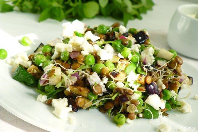 Салат с чечевицей рецепты простые