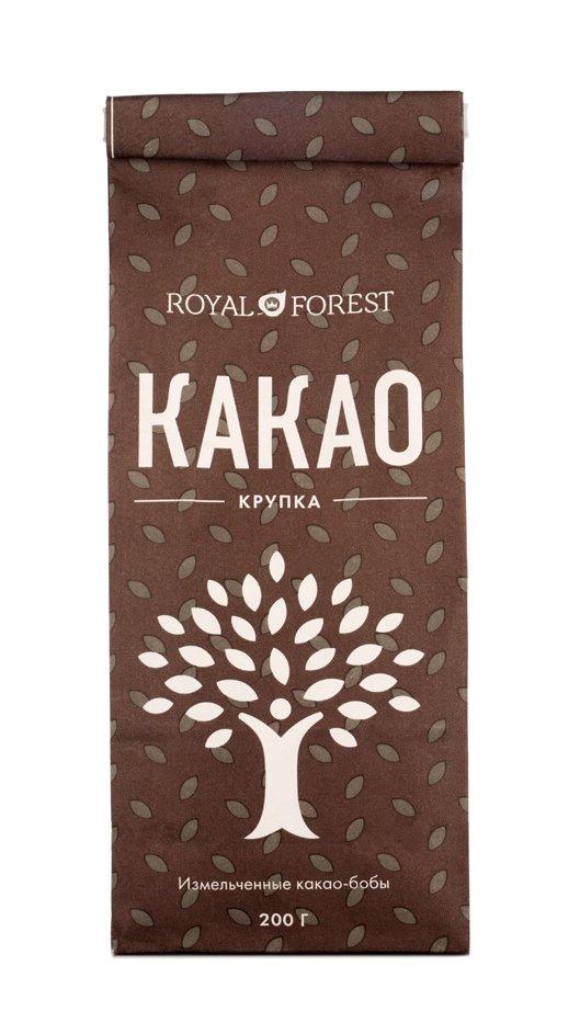 Какао-крупка Royal Forest, 200 гр фото