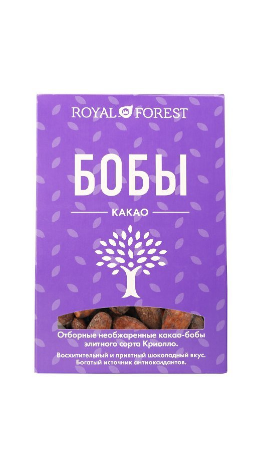 Бобы какао Royal Forest, 100 г.