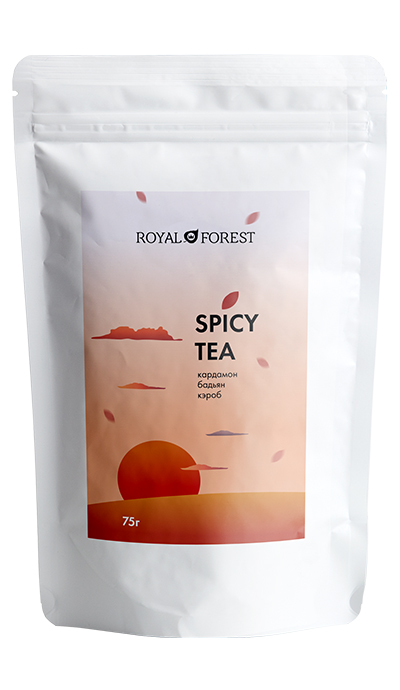 Чай масала Royal Forest со специями (spicy tea), 75 гр