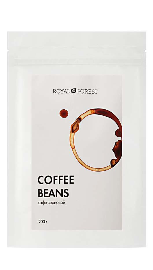 Натуральный кофе жареный в зернах Royal Forest (сорт арабика 50%, робуста 50%)