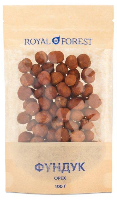 Сырой фундук Royal Forest, 100 гр фото