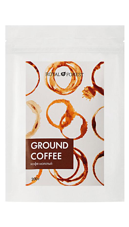 Натуральный кофе жареный молотый Royal Forest (сорт арабика 50%, робуста 50%)