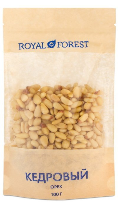 Очищенные кедровые орехи Royal Forest, 100 гр