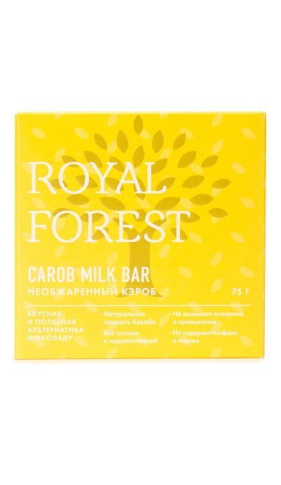 Шоколад из необжаренного кэроба Royal Forest, 75 гр