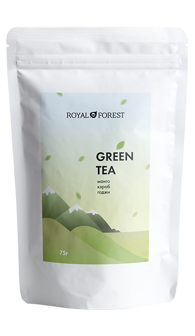 Зеленый чай Royal Forest (Green tea Royal Forest) с манго, кэробом и ягодами годжи
