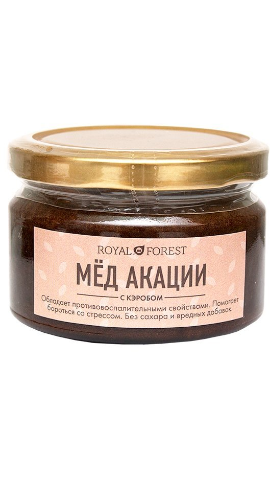 Мед акации Royal Forest с кэробом