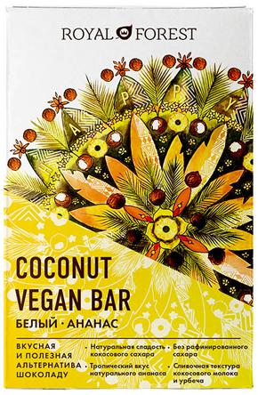 Coconut vegan bar белый с ананасом: тропический праздник