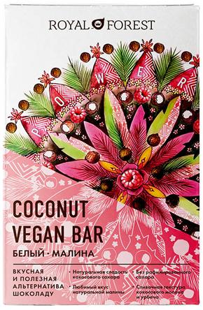 Coconut vegan bar белый с малиной: ягодная радость