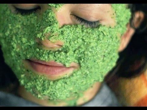 маска для лица из шпината
