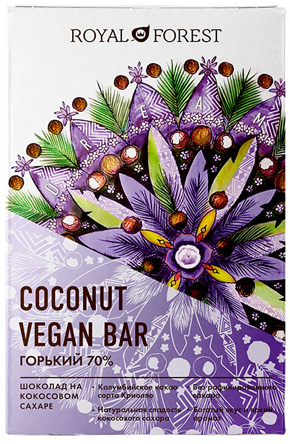 Coconut vegan bar горький: роскошная классика